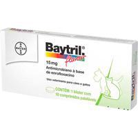 Baytril Flauvour 15Mg Para Cães E Gatos Uso Veterinário Com 10 Comprimidos