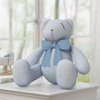 Urso Listrado Laã§O Azul 34Cm Grã£O De Gente Azul - Azul - Menino - Dafiti