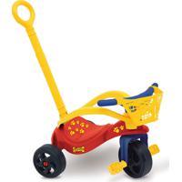 Triciclo Cachorrinho Com Empurrador, Proteção E Cestinha Vermelho Xalingo