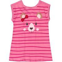 Vestido Bebê Urso Rosa