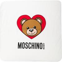 Moschino Kids Cobertor Com Estampa - Branco