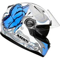 Capacete Mixs Butterfly - Blue