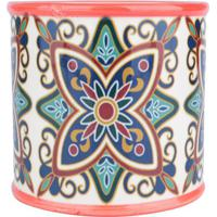 Cachepot Vintage- Vermelho & Azul- 13,5Xã˜13,5Cm-Urban