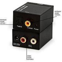 Conversor De Audio Digital Para Analogico 1 Entrada Saidas 2