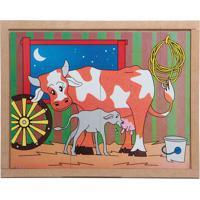 Conjunto De Quebra-Cabeças Animais & Filhotes Vaca- Begecarlu