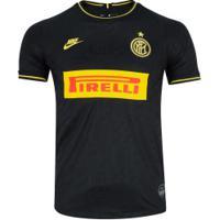 Camisa Inter De Milão Iii 19/20 Nike - Masculina - Preto/Amarelo
