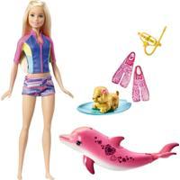 Boneca Barbie - Golfinho Mágico - Barbie Com Acessórios De Mergulho - Mattel - Feminino
