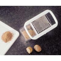 Mini Ralador Com Recipiente Fackelmann Em Plástico / Aço Inox - Branca / Prata / Transparente