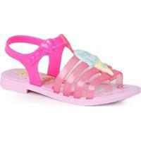 Sandália Rasteira Infantil Grendene Barbie Ice Ros