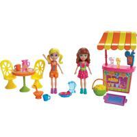 Mini Boneca Com Acessórios - Polly Pocket - O Melhor Dia De Todos - Polly E A Barraca De Limonada - Feminino-Incolor