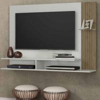 Painel Para Tv 43 Polegadas Ipê Avelã E Off White 128 Cm