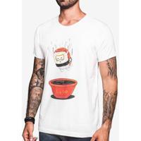 Camiseta Hermoso Compadre Gola Careca Masculina - Masculino-Bege