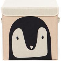 Caixa Organizadora Infantil Com Tampa - Pinguim