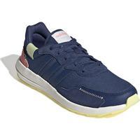 Tênis Adidas Retro Run Feminino - Feminino-Azul