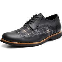 Sapato Social Shoes Grand Chess Preto