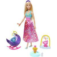 Boneca Barbie - Barbie Dreamtopia - Dia De Pets - Babá De Dragões Bebês - Mattel