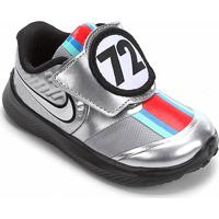 Tênis Infatil Nike Star Runner 2 Auto Tdv Com Velcro - Unissex-Prata+Branco