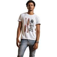 Camiseta Joss Premium Indigenous - Masculino-Branco