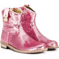 Monnalisa Ankle Boot Com Zíper - Rosa