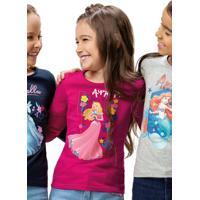 Blusa Pink Princesas Disney®