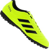 Chuteira Society Adidas Copa 19.4 Tf - Adulto - Amarelo Fluor