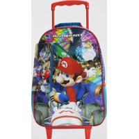 Mochilete Mario Kart Infantil Média Dmw (Azul Escuro, M)