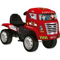 Caminhão Com Pedal - Caminhão De Bombeiros - Bandeirante - Unissex