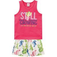 """Conjunto De Regata """"Still Growing"""" + Short- Rosa & Verdebrandili"""