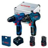 Combo Bosch Com Chave De Impacto Gdr 120-Li + Parafusadeira Gsr 120-Li E Maleta De Alumínio - 06019G80E3-000-000