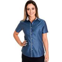 Camisa Pimenta Rosada Gaya - Feminino-Azul