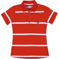 765b32756838b ... Camisa Polo Listrada Rodeo Western Feminina - Feminino-Vermelho