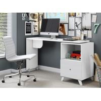 Escrivaninha Giratoria Carinho Branco Textura - Albatroz