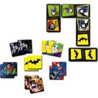 Conjunto De Jogos - Dc Comics - Dc Super Friends - Dominó E Jogo Da Memória - Batman - Elka