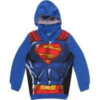 Blusa De Moletom Kamylus Menino Super Homem Azul