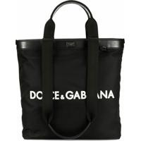 Dolce & Gabbana Bolsa Tote Com Logo - Preto