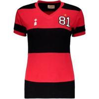 Camisa Flamengo Retrô 1981 Libertadores Feminina - Feminino