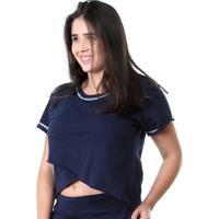 Camiseta Galvic Fitness Blusa Moletinho Promoção 9510 Azul