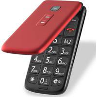 Celular Flip Vita Dual Chip Mp3 Vermelho Multilaser - P9021 - Padrão
