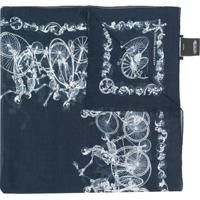 Alexander Mcqueen Cachecol Skull And Bicycle - Azul