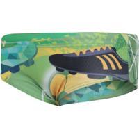 Sunga Com Proteção Solar Uv Swim Colors Chuta Pro Gol - Infantil - Verde/Amarelo
