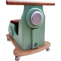 Carrinho Motoneta Kits E Gifts - Madeira - Menta Com Banco Café Racer - 100% Artesanal - Verde