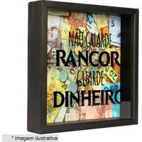 """Quadro Cofre """"Não Guarde Rancor""""- Preto & Amarelo- 2Art Frame"""