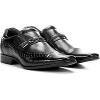 Sapato Social Couro Rafarillo Las Vegas - Masculino-Preto