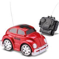 Carrinho De Controle Remoto Com Luz - Fusca Vermelho – Samba Toys