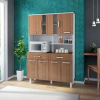 Cozinha Compacta Atenas 8 Pt 2 Gv Branco E Montana