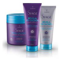 Kit Siàge Revela Os Cachos: Shampoo + Condicionador + Creme Para Pentear
