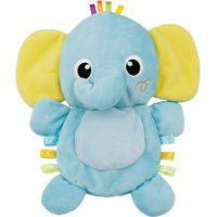 Elefante Pelúcia Winfun 0197-Ni Amiguinho Do Bebê Amarelo/Azul