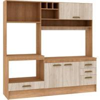 Cozinha Compacta Livia 4 Pt 3 Gv Carvalho Com Blanche