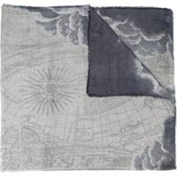 Faliero Sarti Echarpe Com Estampa Geométrica - Cinza