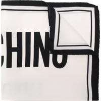 Moschino Lenço 'Couturel' De Seda - Branco